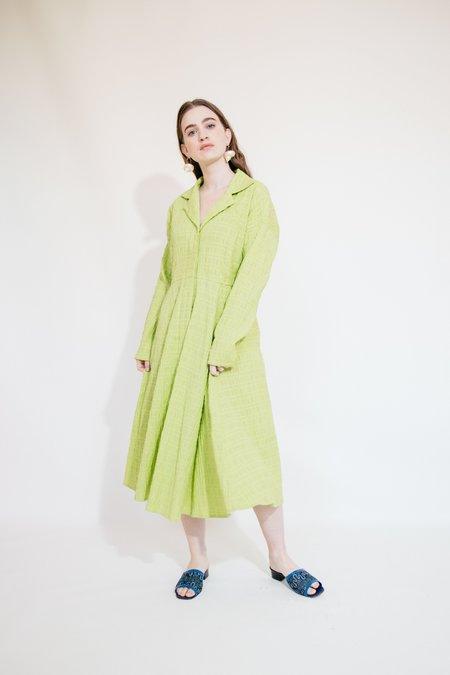 Nikki Chasin REYNOLDS DRESS - PARAKEET CRINKLE