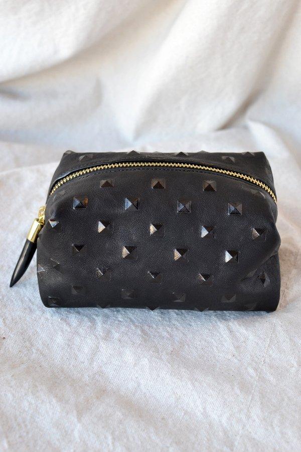 Kempton & Co Cosmetic Case - Black Studs