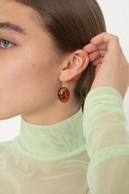 Mary MacGill Stone Drop Hook Earring - Scotch Amber