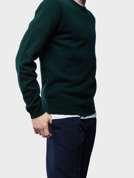 Norse Projects Sigfred Lambswool - Quartz Green