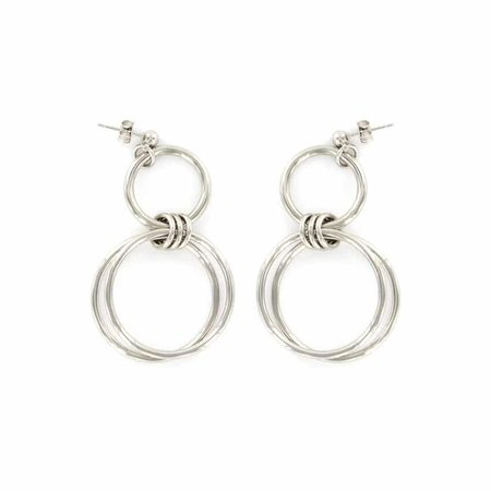 Justine Clenquet Alice Earrings - Palladium