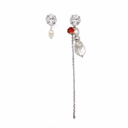 Justine Clenquet Betsy Earrings - Palladium