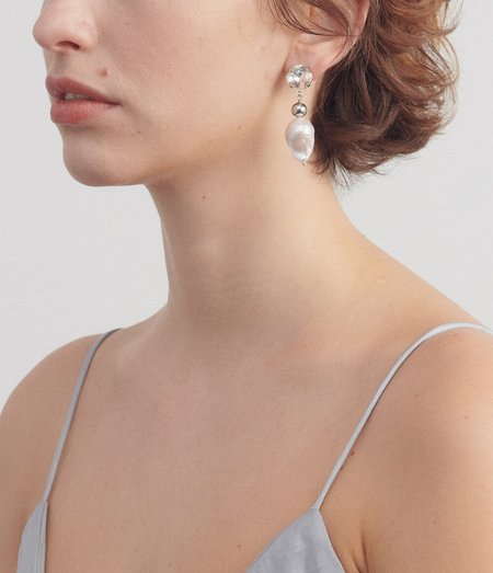 Justine Clenquet Laurie Earrings - Palladium