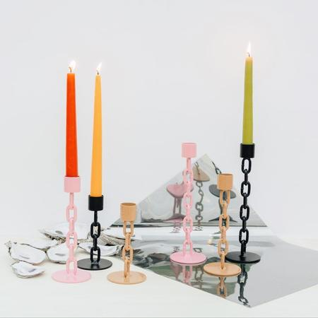 Boonies Chain Candlestick Holder - Citrin