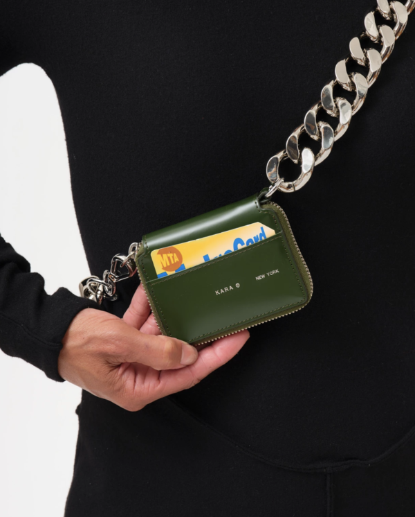 KARA Bike Wallet with chain in Green