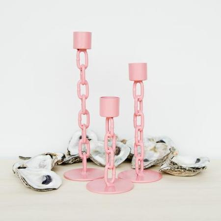 Boonies Chain Candlestick Holder - Pink
