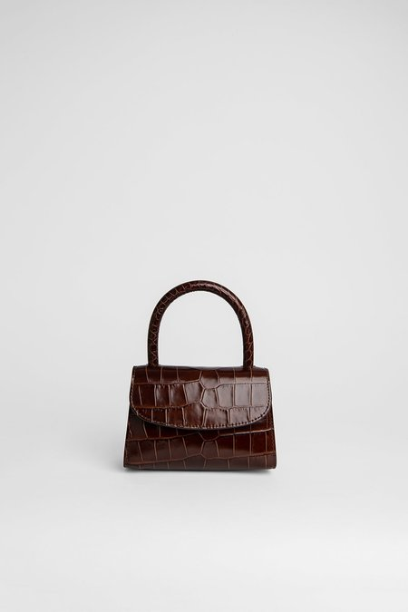 BY FAR Mini Bag Embossed Leather - Nutella Croco