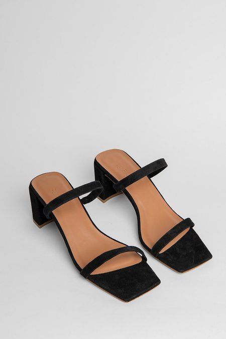 BY FAR Tanya Sandals - Black Suede