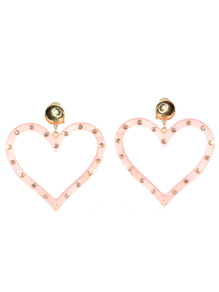 RACHEL COMEY Affection Earring - Candy Pink/Rhinestone