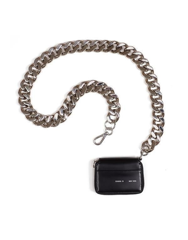 KARA Bike Wallet with chain in Black Void
