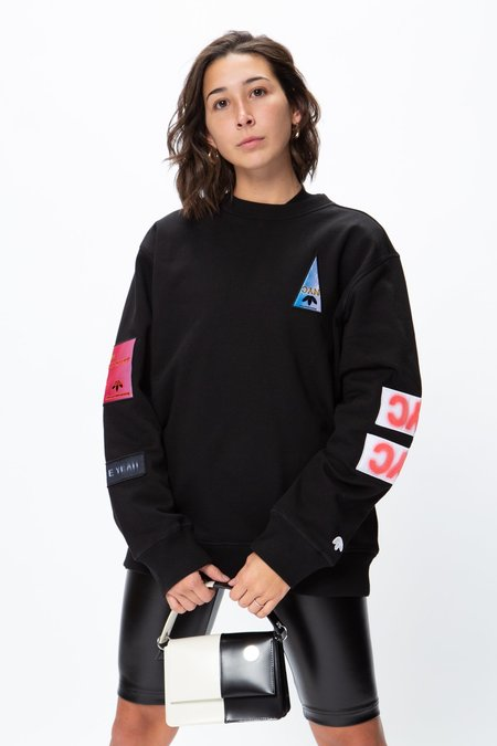 Unisex Adidas x Alexander Wang Flex2Club Crewneck - Black