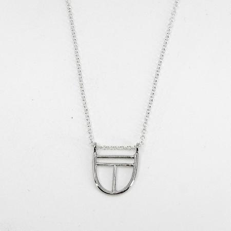 Hahn Jewelry Mini Shield Necklace - Sterling Silver