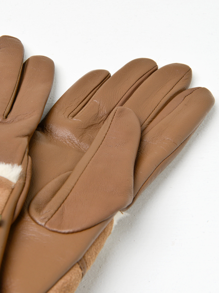 UGG COMBO SHEEPSKIN TRIM GLOVE - CHESTNUT
