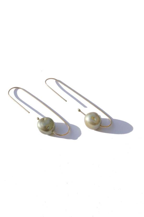 Jujumade Mint Baroque Pearl Earrings - Mint