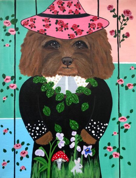 "Carly Beck ""Dog in Vivetta"" Artwork"