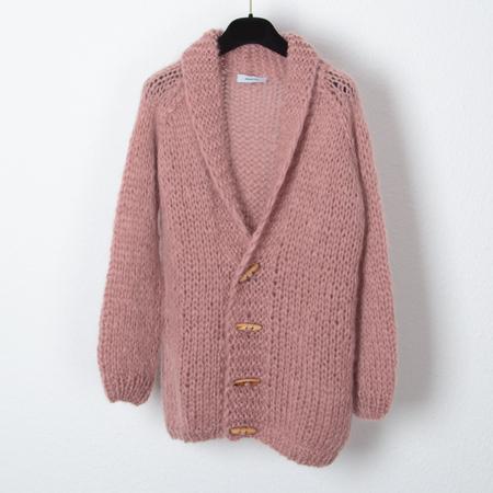Maiami Mohair Boyfriend Cardigan - Antique pink