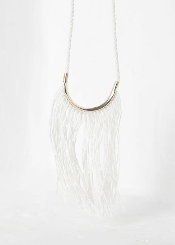 Erin Considine Lunate Fringe - white