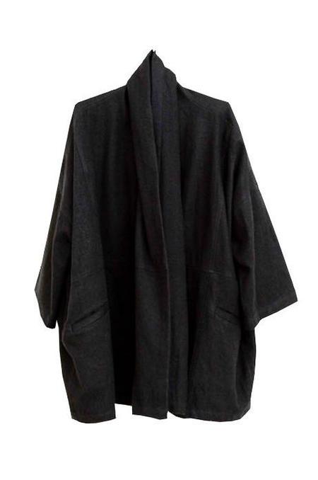 Atelier Delphine Antwerp Cotton Wool Blend Coat - Black
