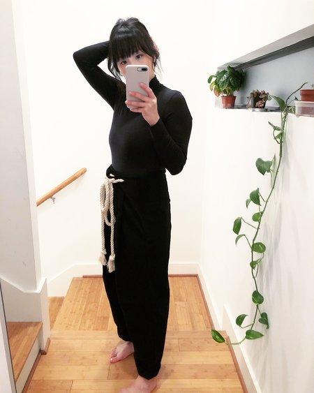 Atelier Delphine Parachute Cotton Wool Blend Pant - Black