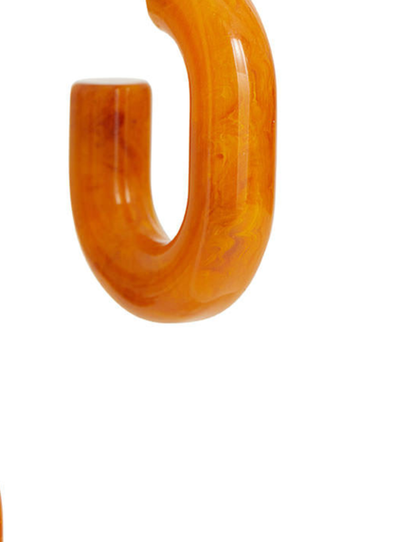 RACHEL COMEY Small Keeper Earring - Orange Marble