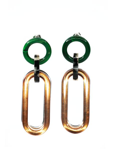 RACHEL COMEY Sour Earrings - Clear Brown Multi