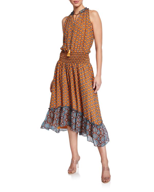 Ramy Brook Printed Keren Dress - buttercup combo