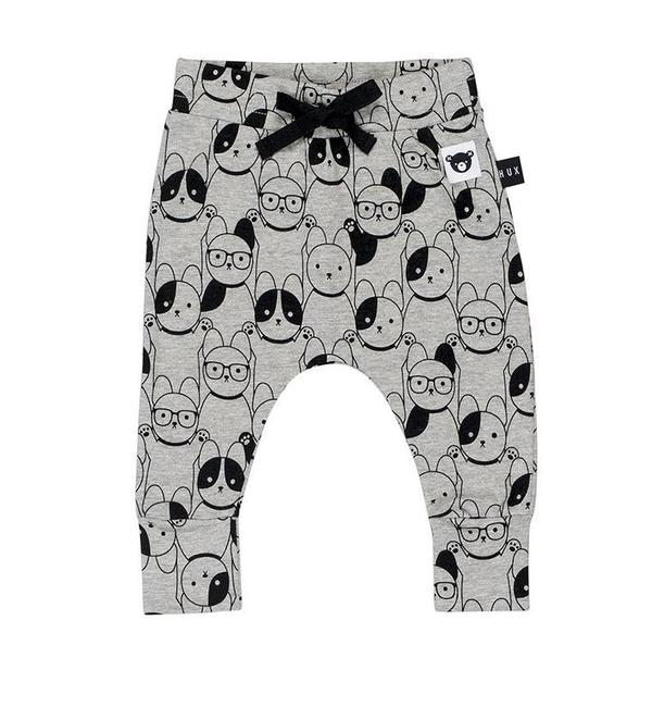 kids Huxbaby Puppy Love Drop Crotch Pant