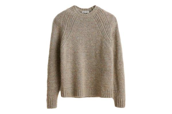 Alex Mill Fuzzy Raglan Crew Sweater - Grey