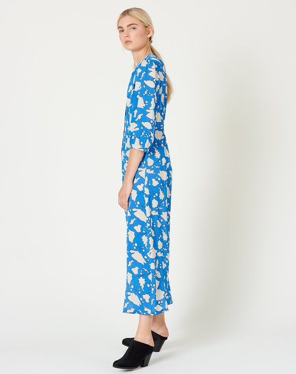 Raquel Allegra Ruffle Dreamer Dress - French Blue Floral