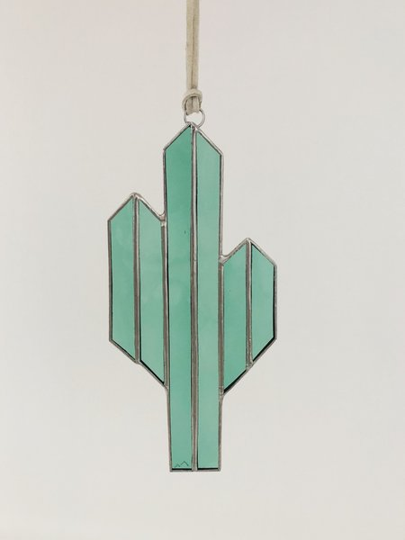 Brewer & Marr Glassworks Minimalist Saguaro Sun Catcher