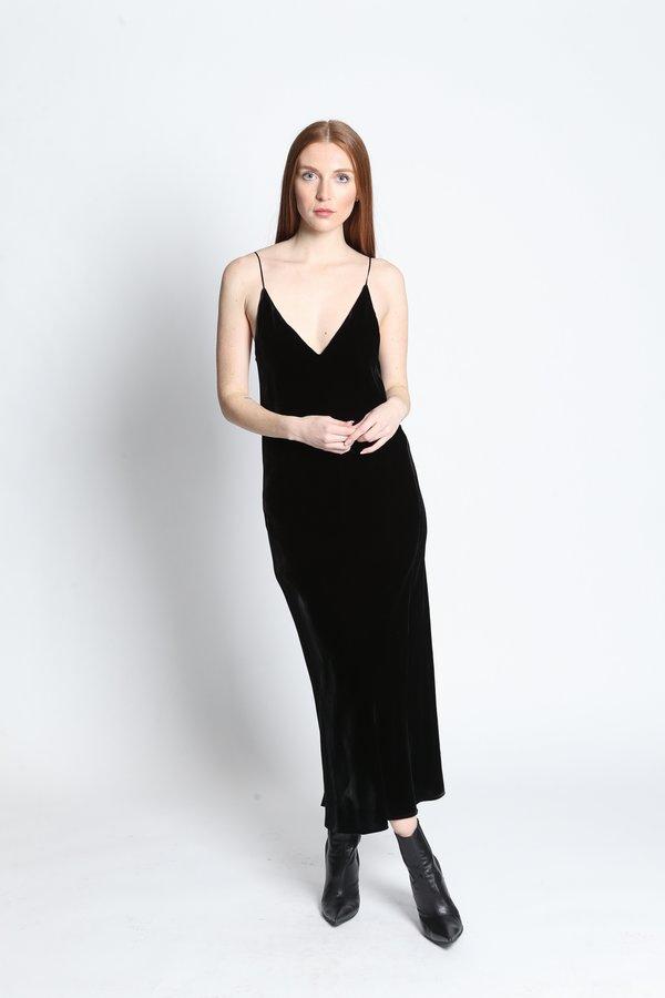 Merotto Sasha Slip Velvet Dress - Black