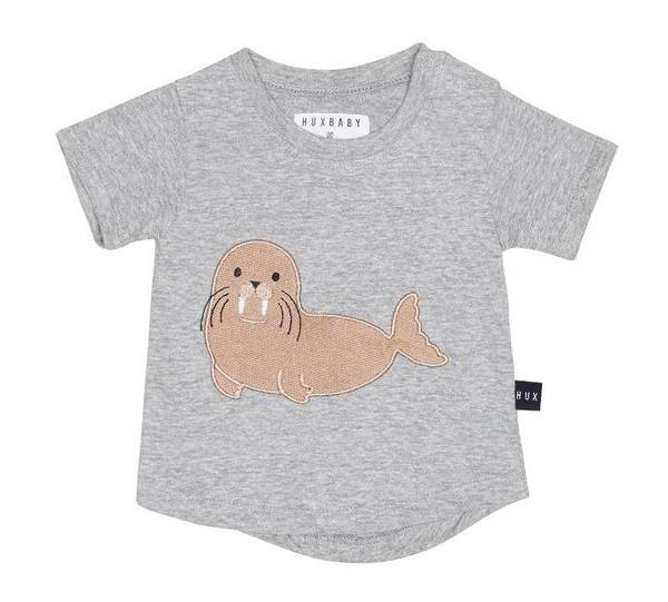 kids Huxbaby Walrus Drop Back Tee