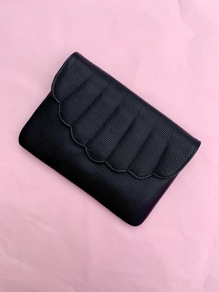 C.A.B. Collection Shell Fanny Pack - Black Lizard Effect