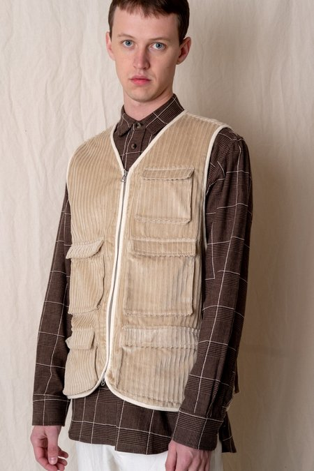 House of St. Clair CORDUROY MJM VEST - STONE