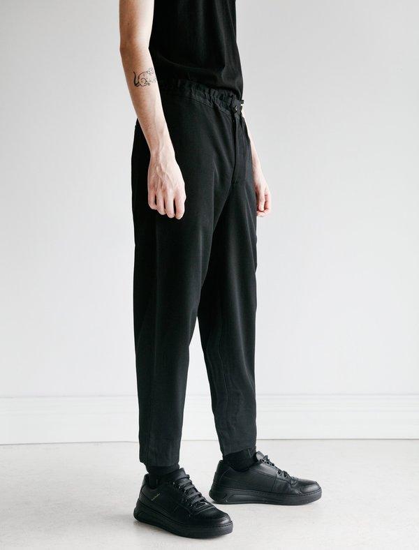 Comme des Garçons Homme Deux Wool Gabardine Elastic Waist Pants - Black
