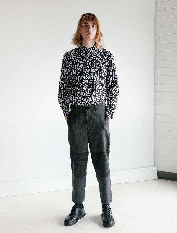 Comme des Garçons Homme Deux Wool Tropical Check Flannel Suit Pants