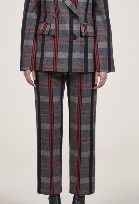 EI8HTDREAMS Clair Tapered Trouser - PLAID