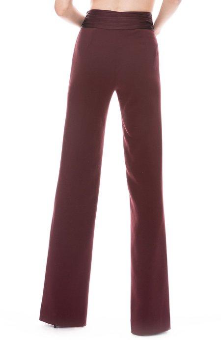 Jonathan Simkhai Crepe Back Side Slit Pant - Sienna