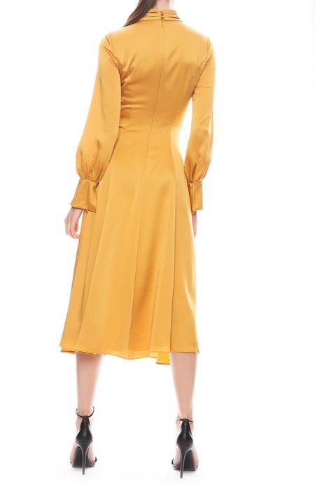 Jonathan Simkhai Fluid Satin Tie Front Dress - Honey