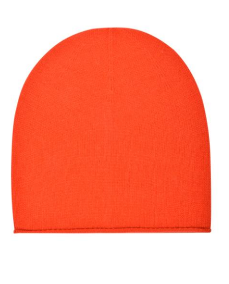 Carolina Amato Rolled Slouch Hat - orange