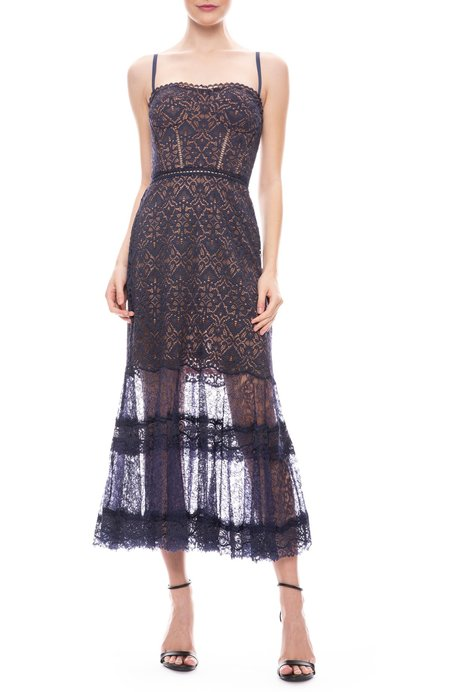 Jonathan Simkhai Multi Media Lace Dress - Midnight
