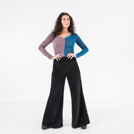 Kurt Lyle Queenie Bodysuit - Purple/Turquoise