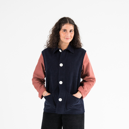 Caron Callahan Krasner Jacket - Navy/Dusty Rose