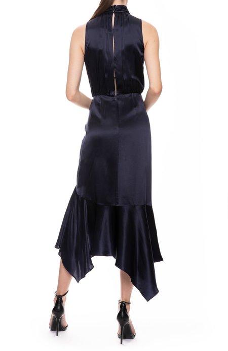 Jonathan Simkhai Silk Lace Split Dress - Midnight/Black