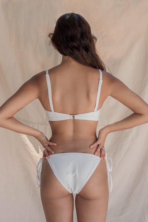 Hakea Ainsworth Tie Bottom - Textured Cream