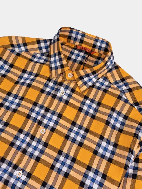 Barena Shirt Coppi Gold - Navy Check