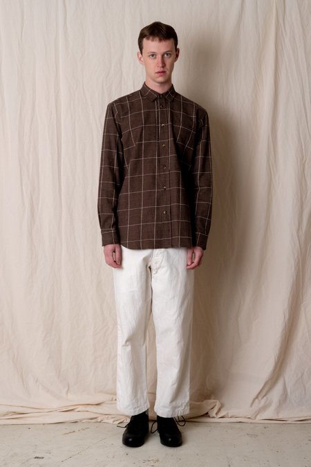 House of St. Clair 1905 SHIRT - COFFEE PLAID