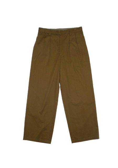 Edwina Hoerl Khaki Wide Leg Trousers - khaki