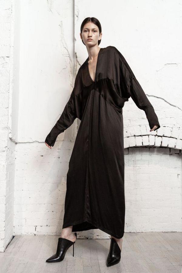 Nicholas K Tristan Drape Dress - Black