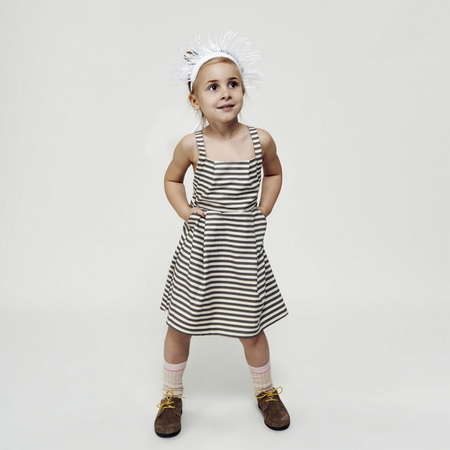 kids macarons DELIA dress - earl grey meringue